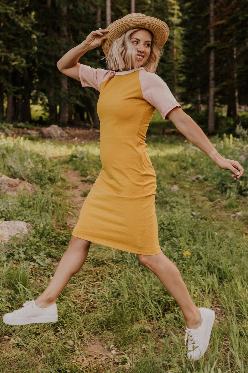 Yellow Nursing Friendly Dress | ROOLEE