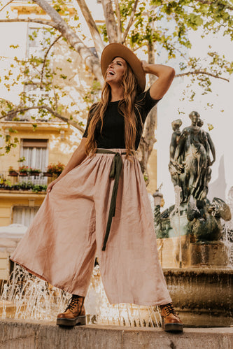 Blush Wide Leg Pants | ROOLEE