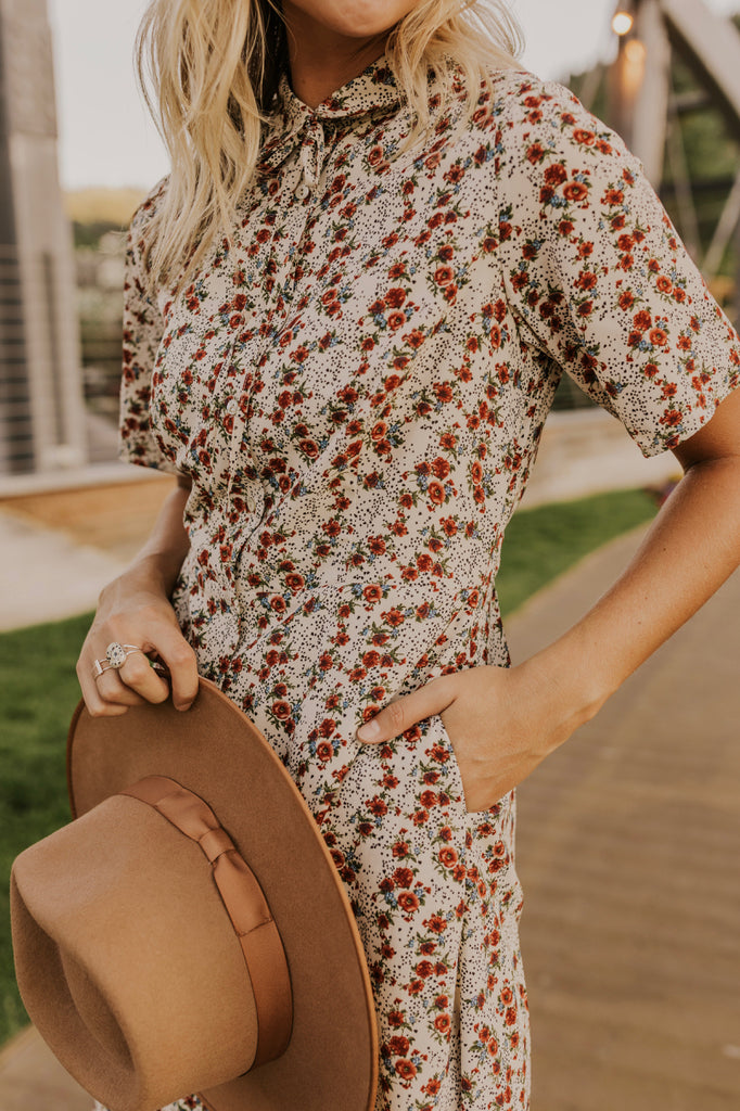 Collared Floral Dress | ROOLEE