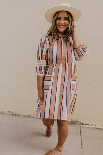 Spring/Summer Striped Dress Women | ROOLEE