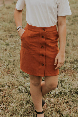 Button Front Short Skirt | ROOLEE
