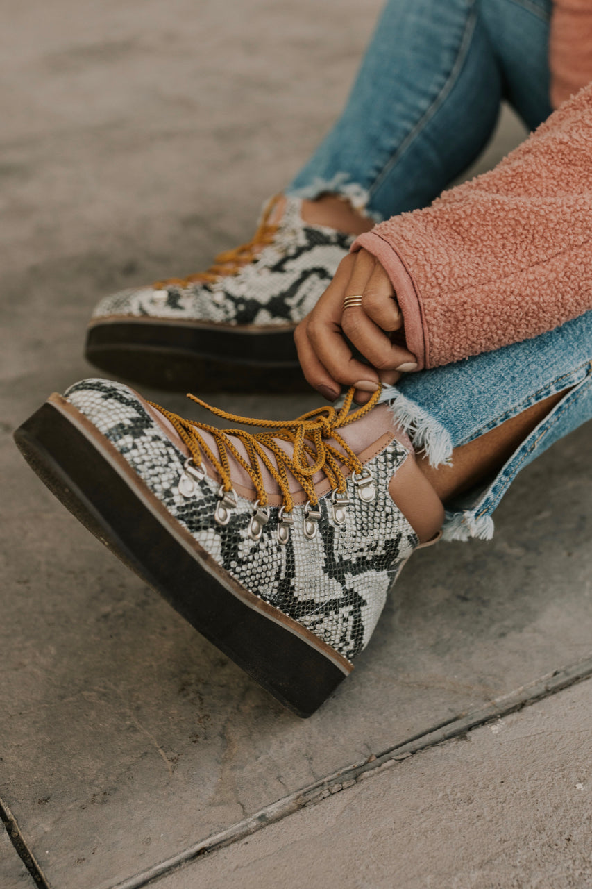 Snake Print Boots | ROOLEE