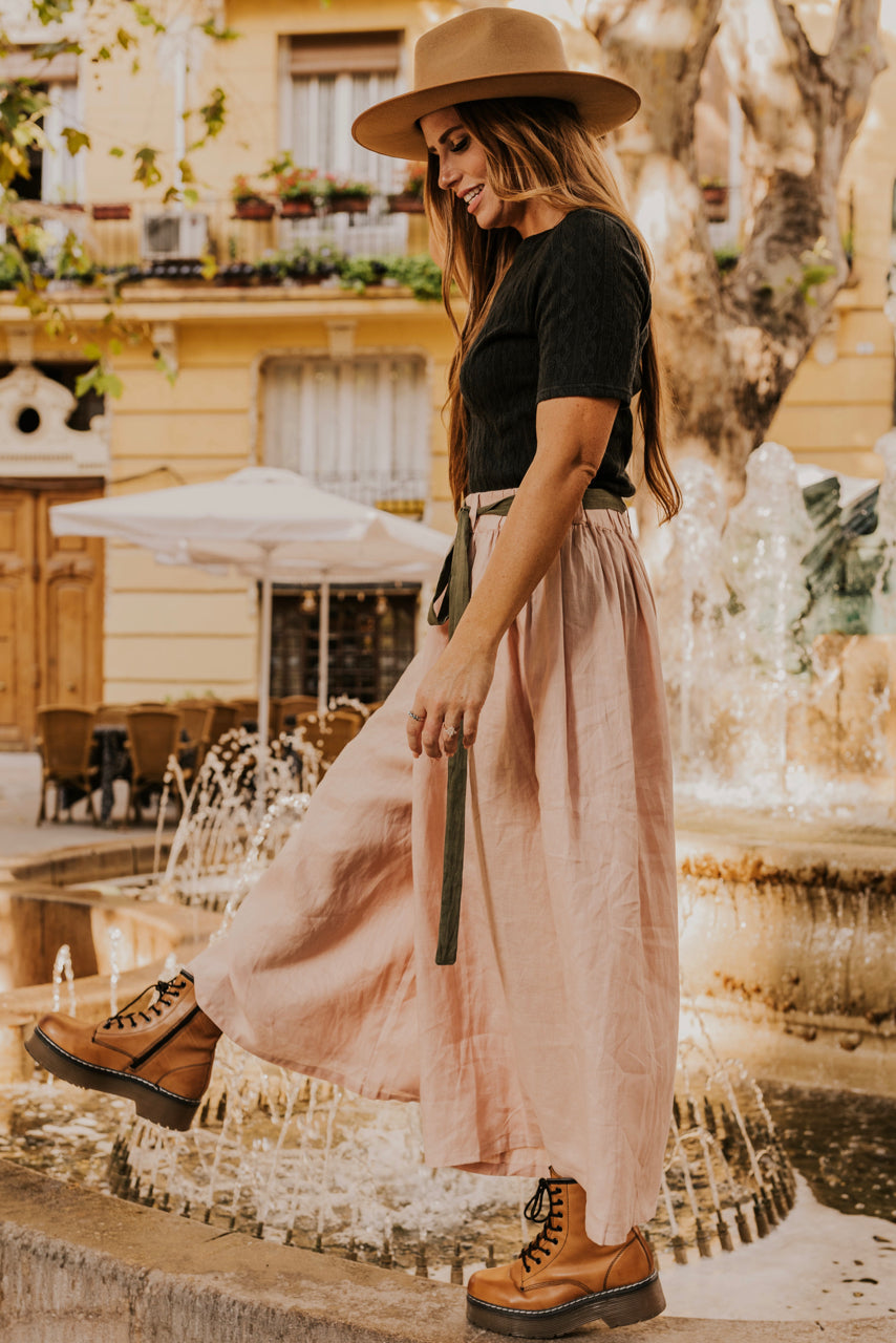 Flowy Pants with Belt | ROOLEE
