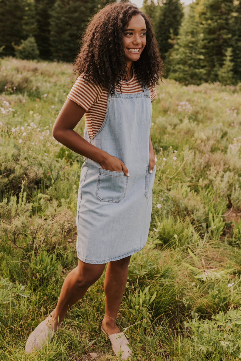Denim Short Dress | ROOLEE
