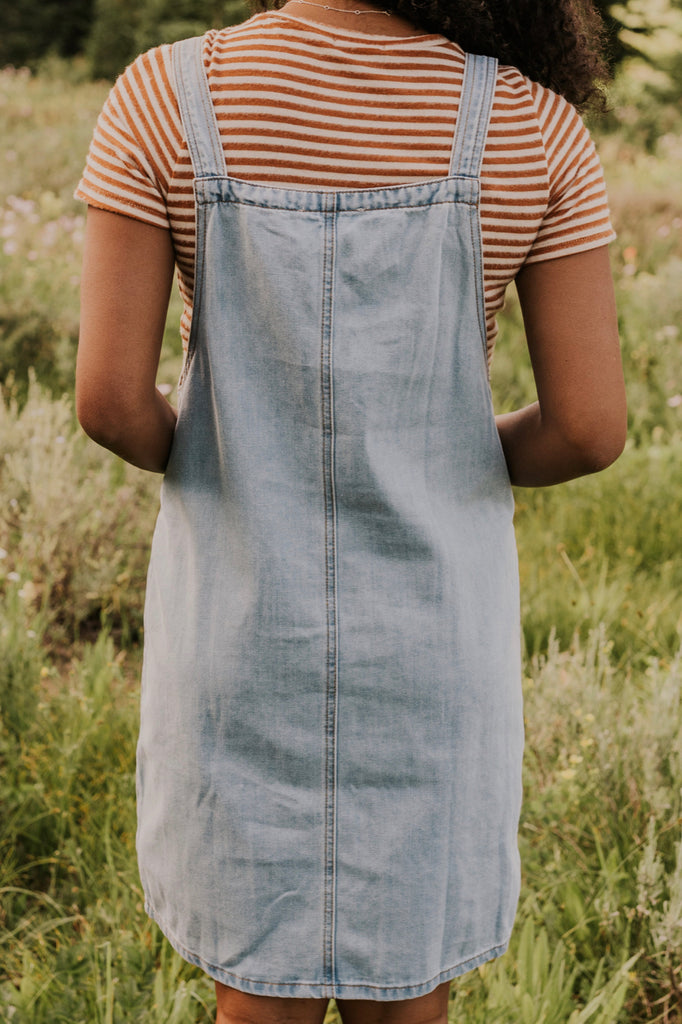 Short Denim Dress | ROOLEE
