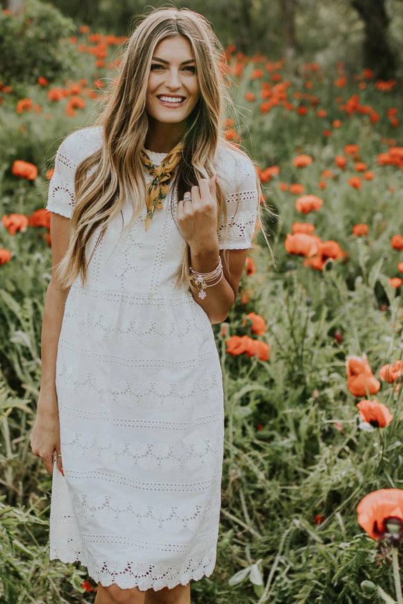West End Eyelet Dress | ROOLEE