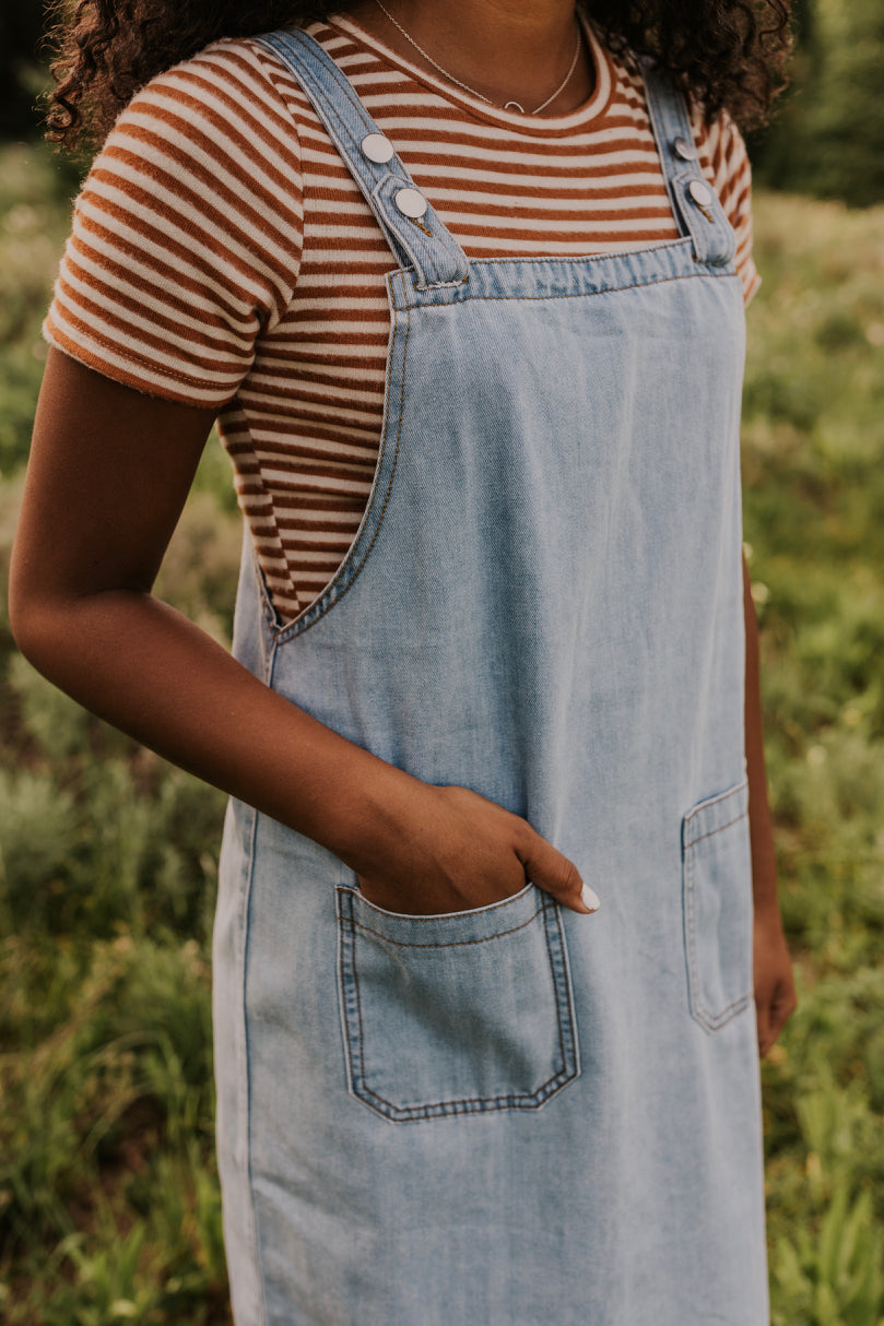 Sleeveless Overall Dress | ROOLEE