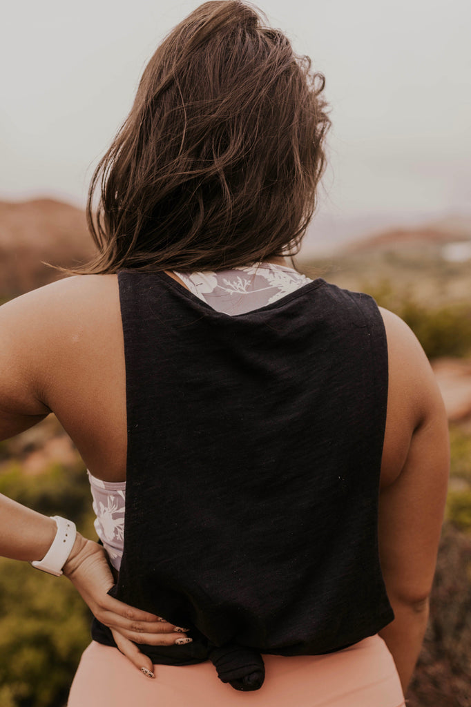 Black Tank Top for Women | ROOLEE