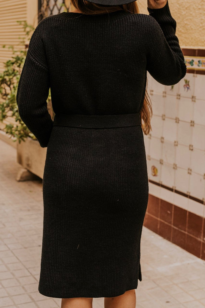 Black Sweater Dress | ROOLEE
