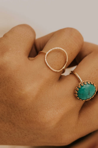 Gold Circle Ring | ROOLEE