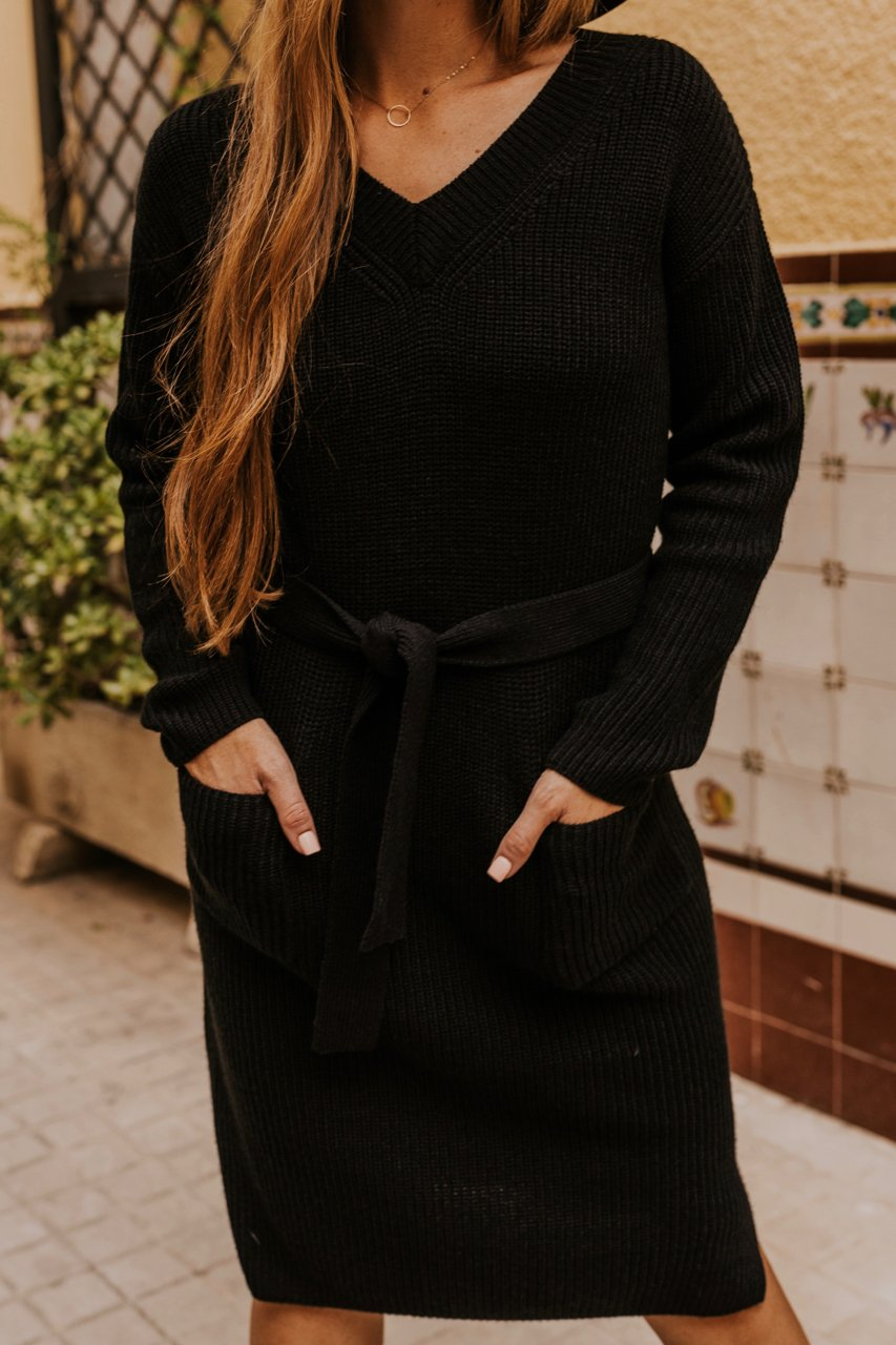 Sweater Dress with Pockets | ROOLEE