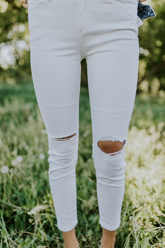 White Skinny Jeans | ROOLEE
