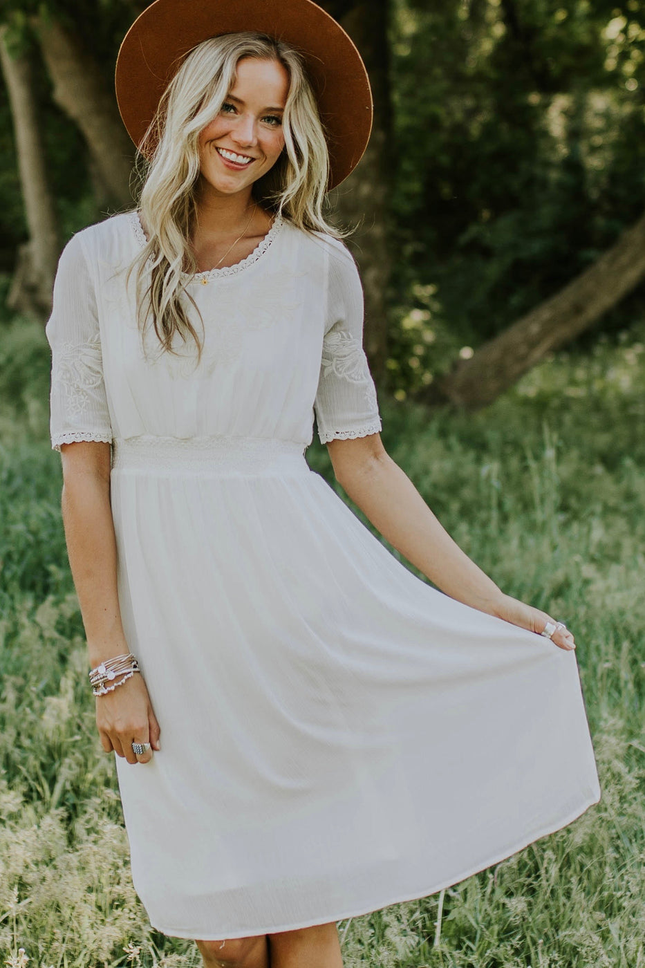 Whitby Embroidered Midi | ROOLEE