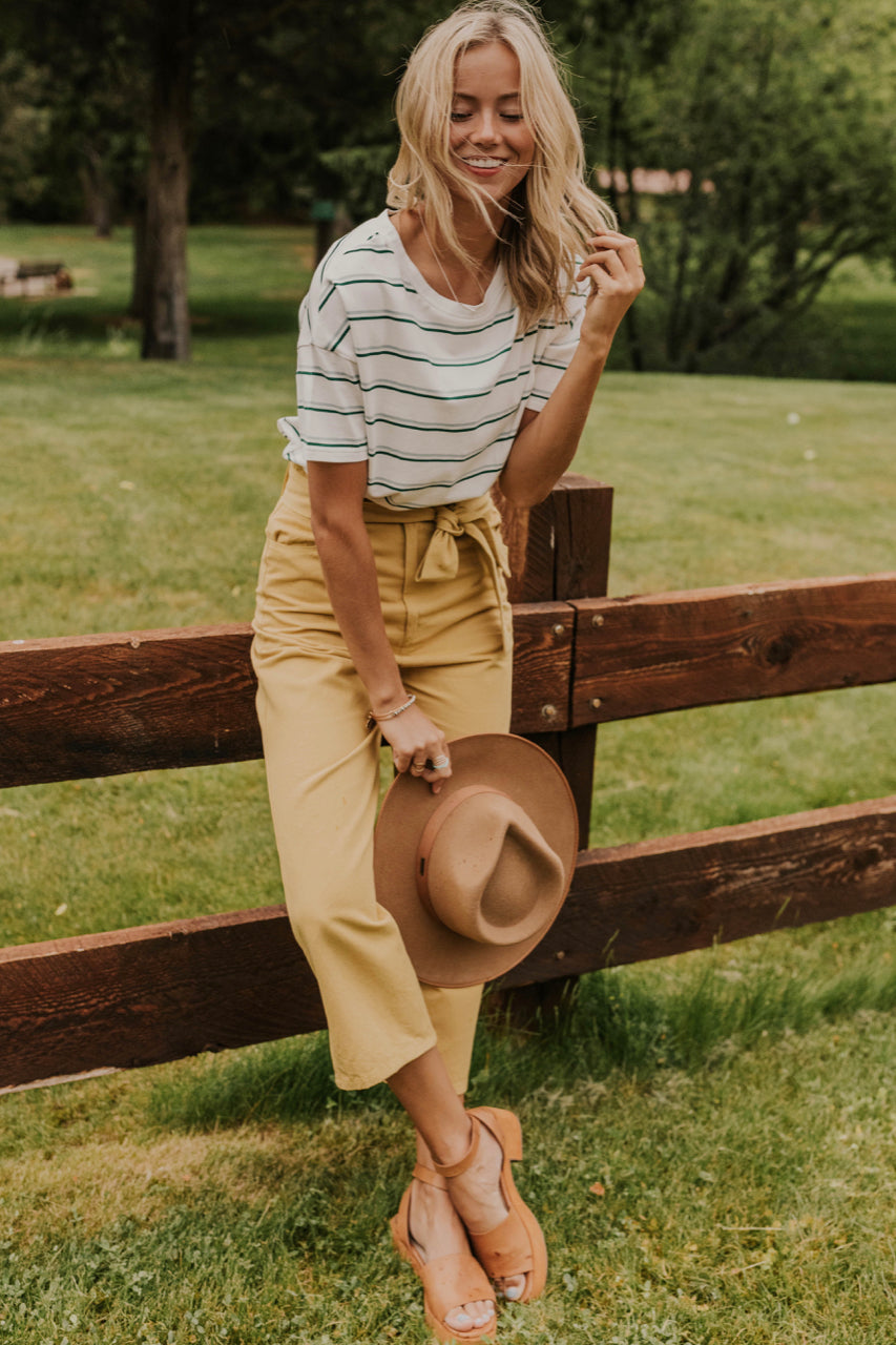 High Rise Mustard Pants | ROOLE