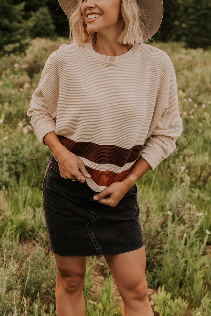 Textured Stripe Sweater | ROOLEE
