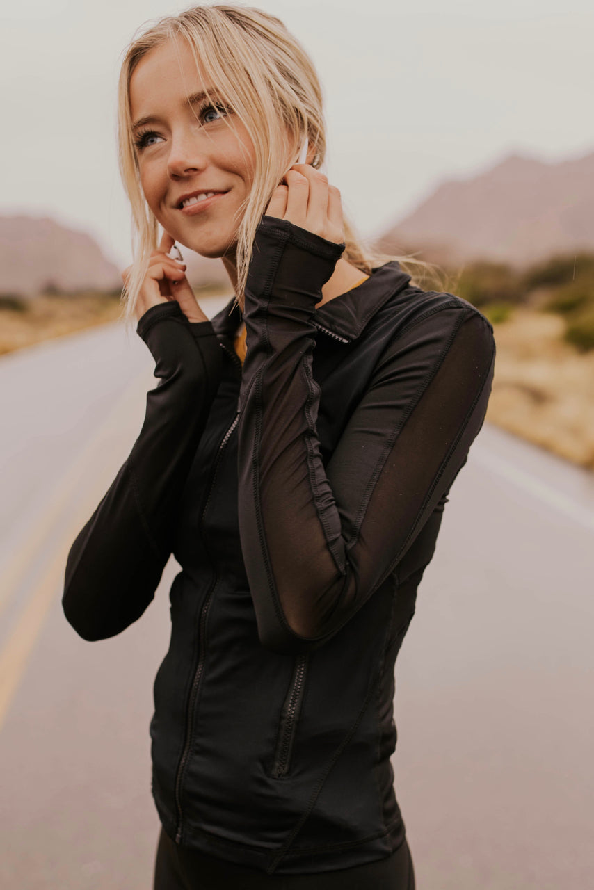 Zip Up Workout Jacket | ROOLEE