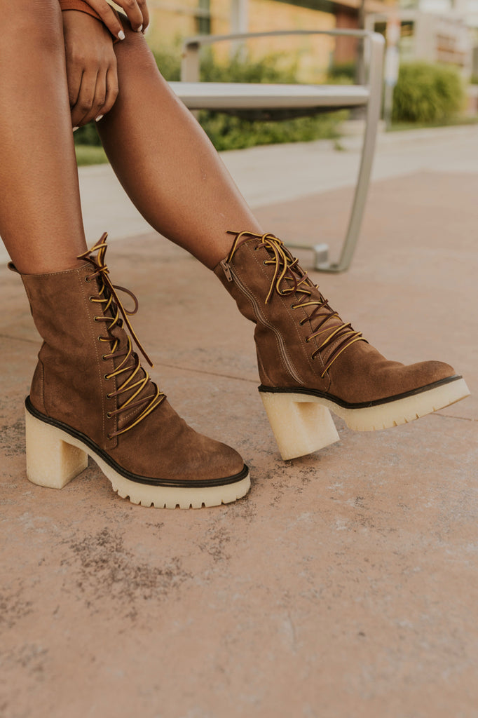 Heeled Lace Up Boots | ROOLEE