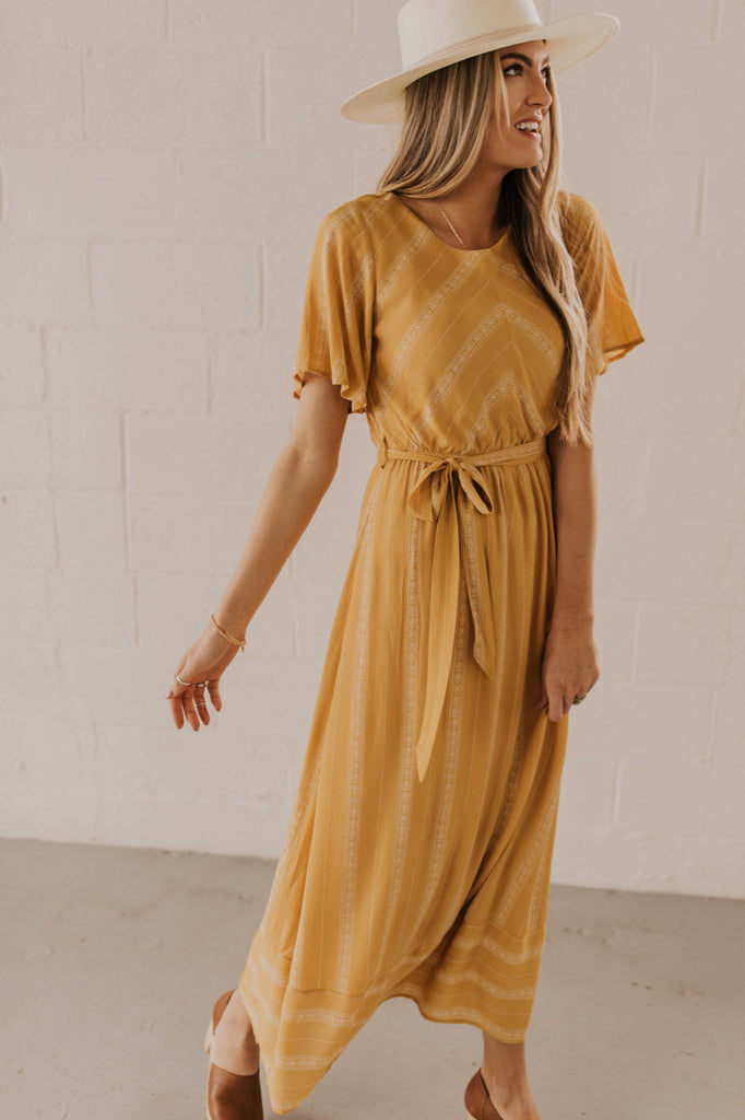 Yellow Maxi Dress | ROOLEE