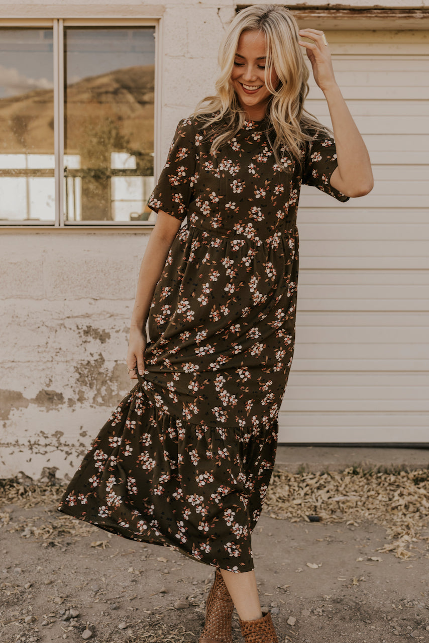 Dark Green MOM Dress | ROOLEE