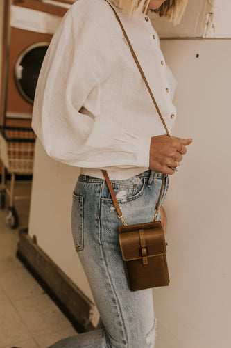Buckled Leather Crossbody