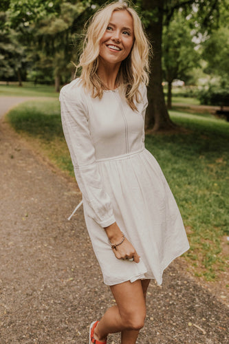 Cute Stitch Detail Dress | ROOLEE