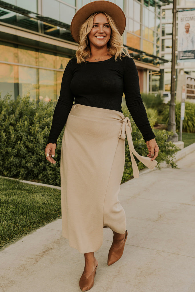 Wrap Skirt Outfit Ideas | ROOLEE