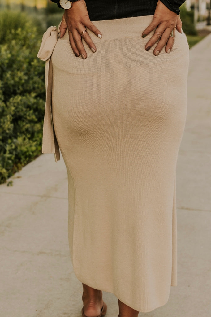 Cream Midi Skirt | ROOLEE