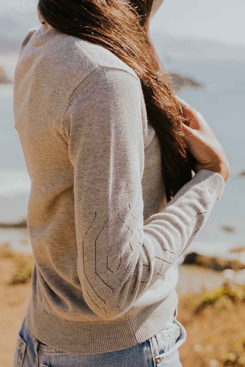 grey sweaters with details | ROOLEE