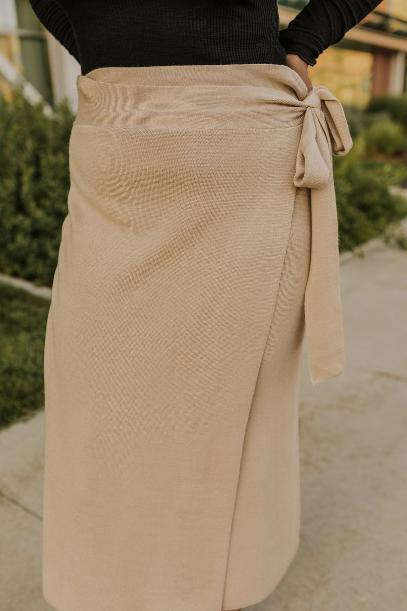 Taupe Skirt | ROOLEE