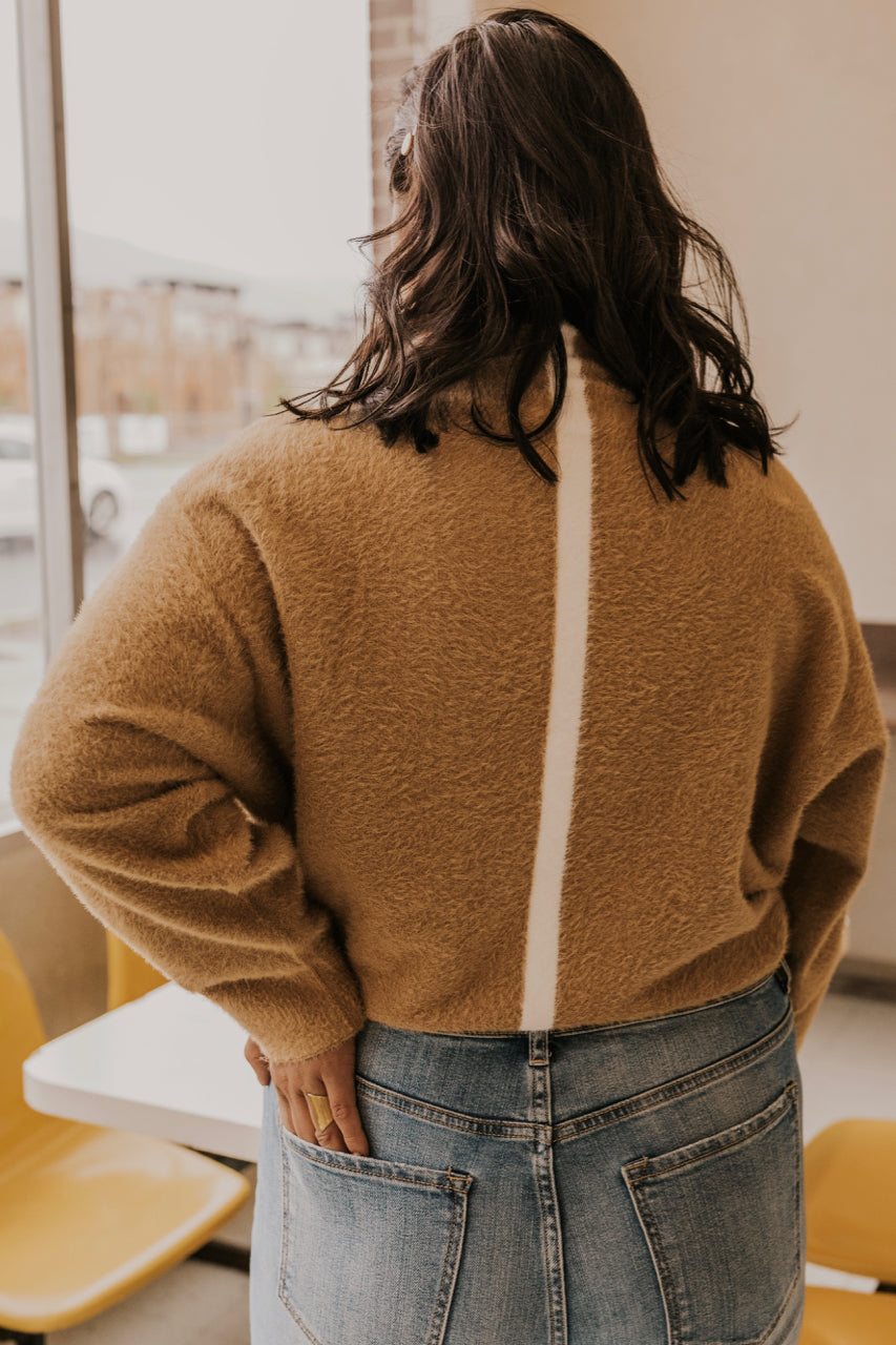 Tan Fuzzy Sweater | ROOLEE