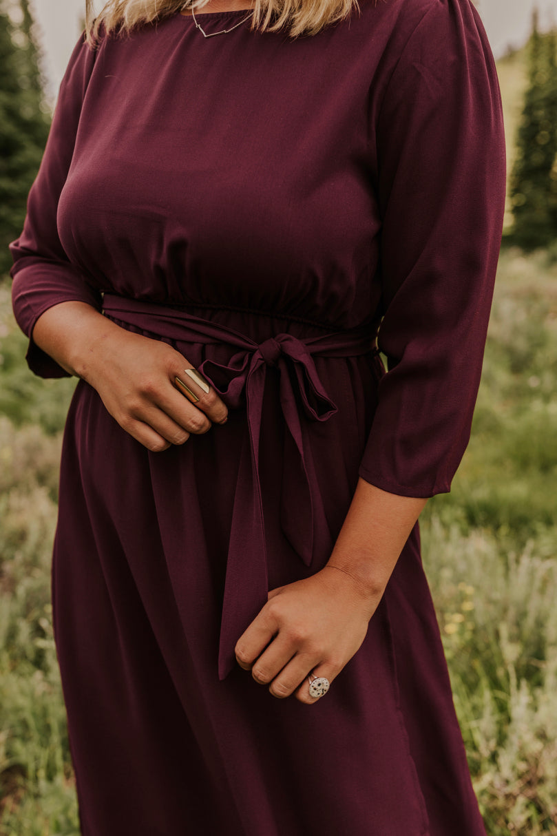Tie Front Maxi Wrap Dress | ROOLEE