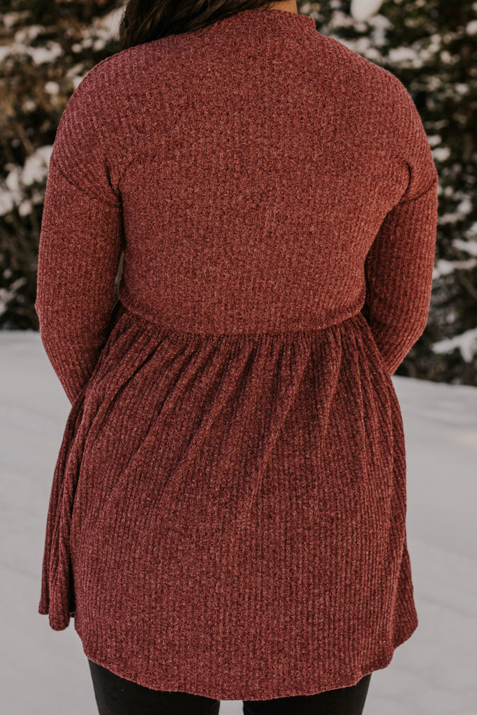 Deep Red Tunic Dress | ROOLEE
