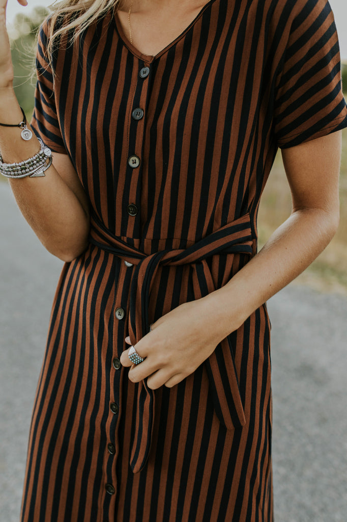 Stripe Dress for Fall | ROOLEE