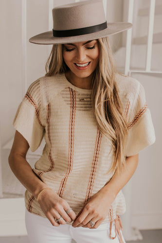 Vertical Stripe Knit Top | ROOLEE