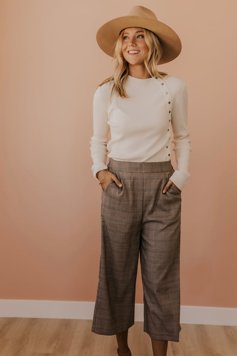 Plaid Cropped Pants | ROOLEE
