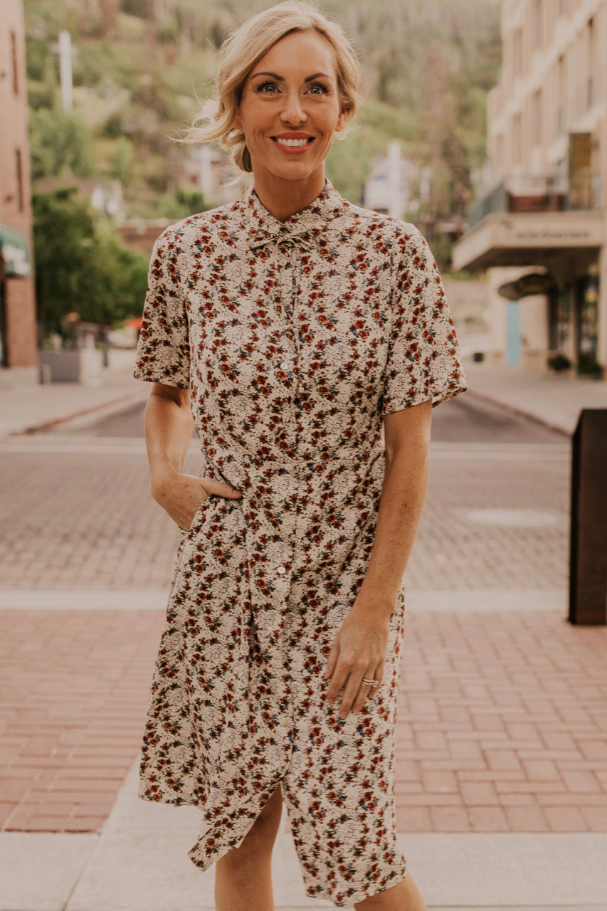 Button Front Floral Dress | ROOLEE