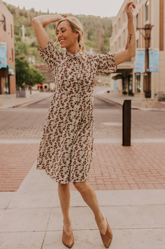 Nursing Friendly Floral Dress | ROOLEE