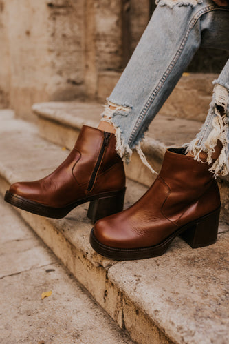 Leather Ankle Boots | ROOLEE