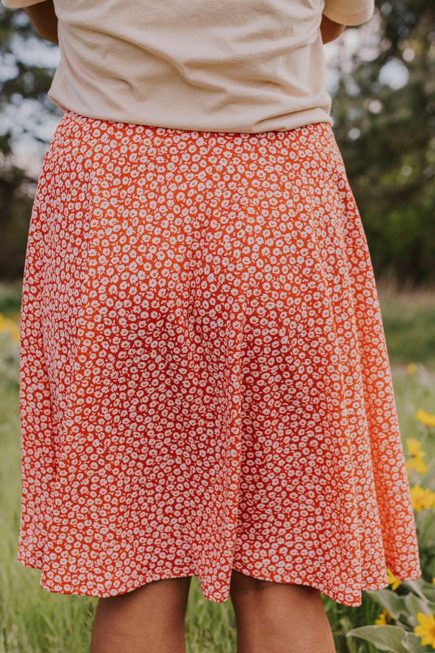 Stretchy Floral Skirt | ROOLEE
