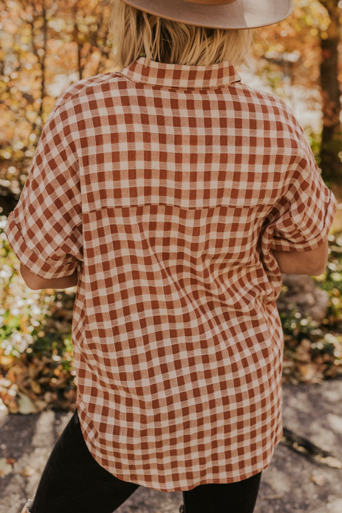 Spring Checkered Blouse | ROOLEE