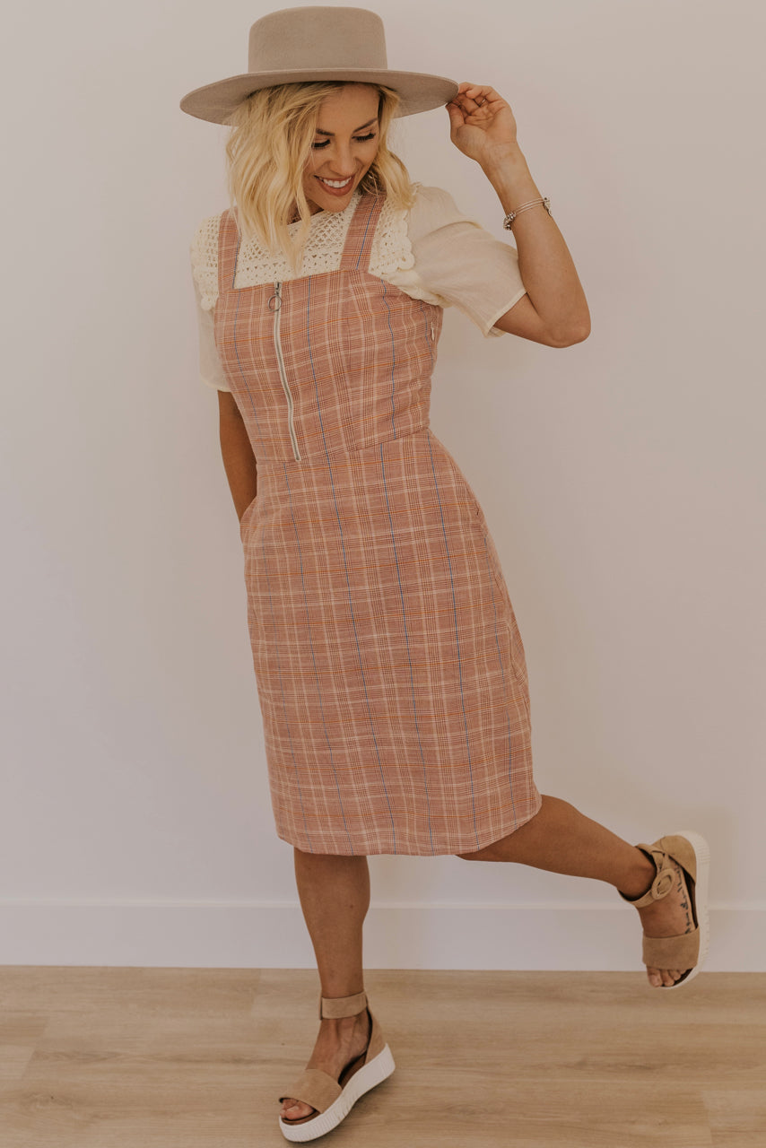 Plaid Jumper Dress | ROOLEE