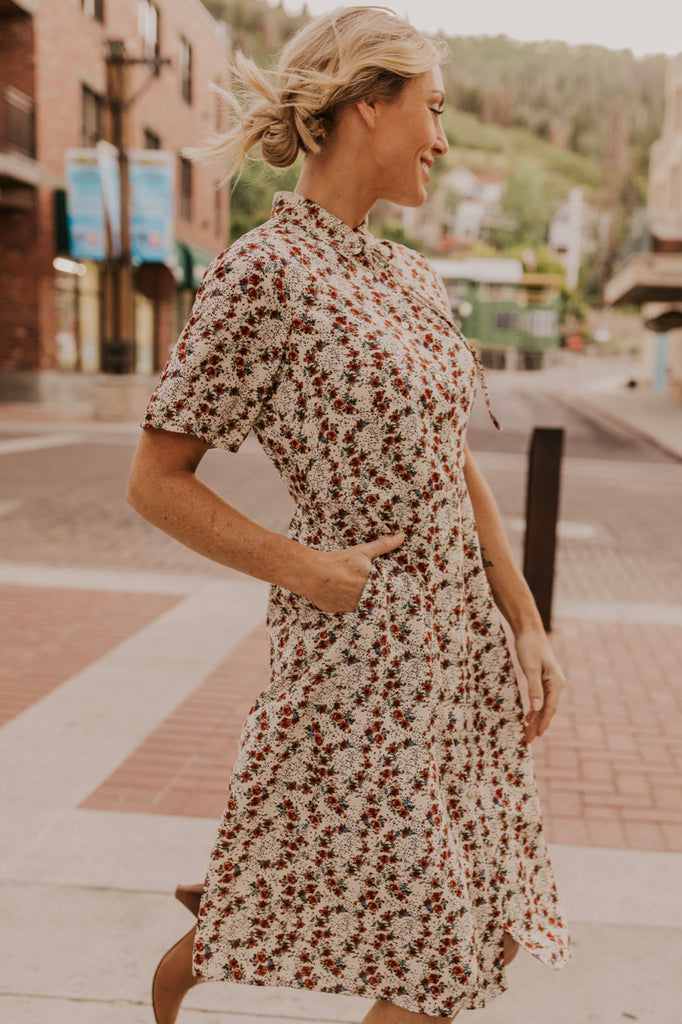 Ivory Floral Dress | ROOLEE