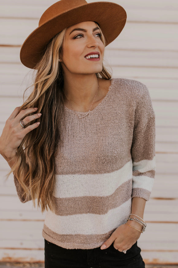 Knit Striped Sweater | ROOLEE
