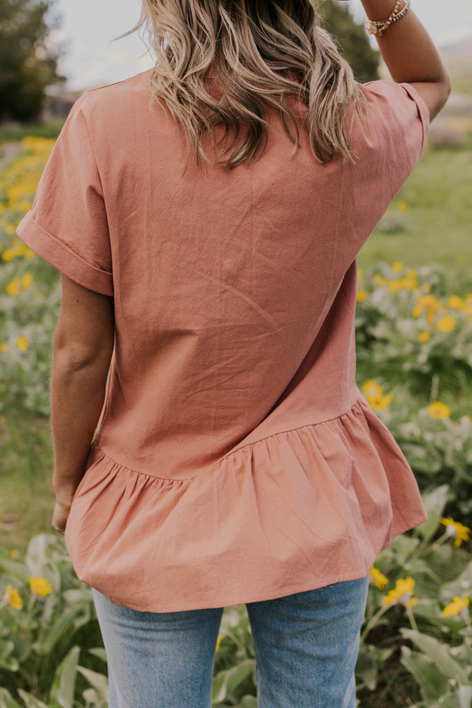 Block Neck Blouse | ROOLEE
