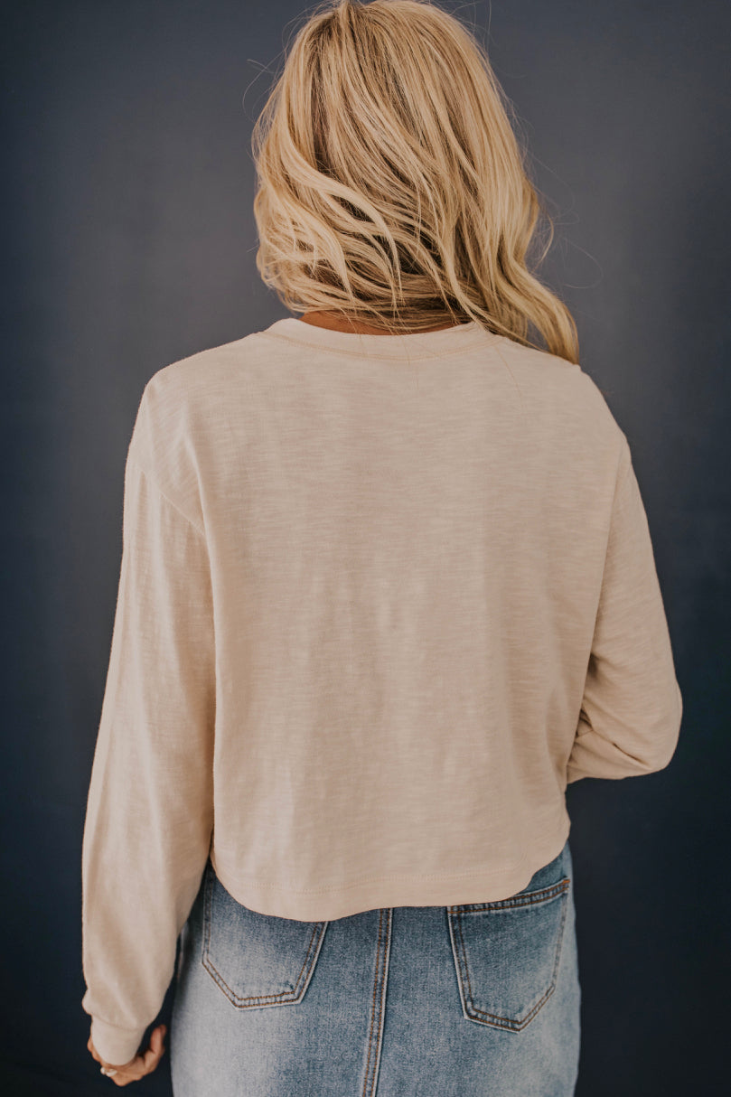 Cream Long Sleeve Tee | ROOLEE