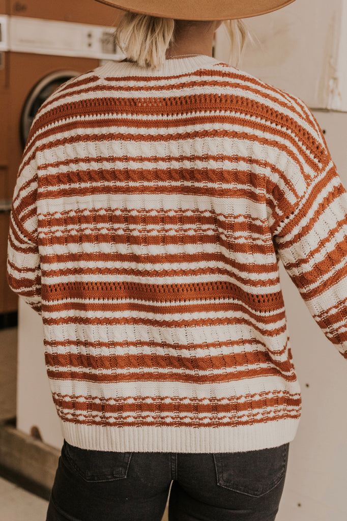Textured Weave Knit Holiday Sweater | ROOLEE