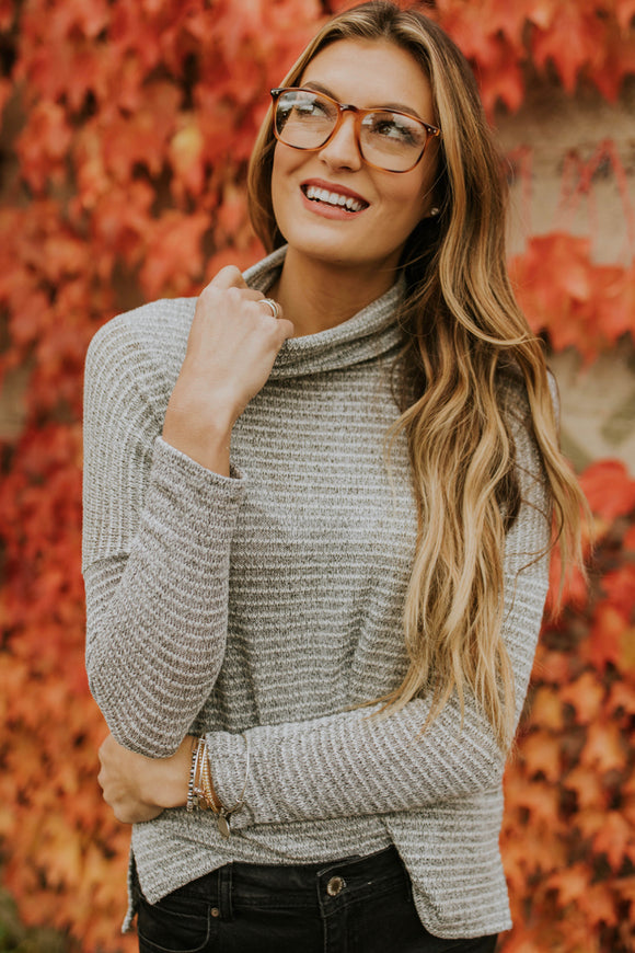 Long Sleeve Knit Turtleneck Top For Women | ROOLEE Tops