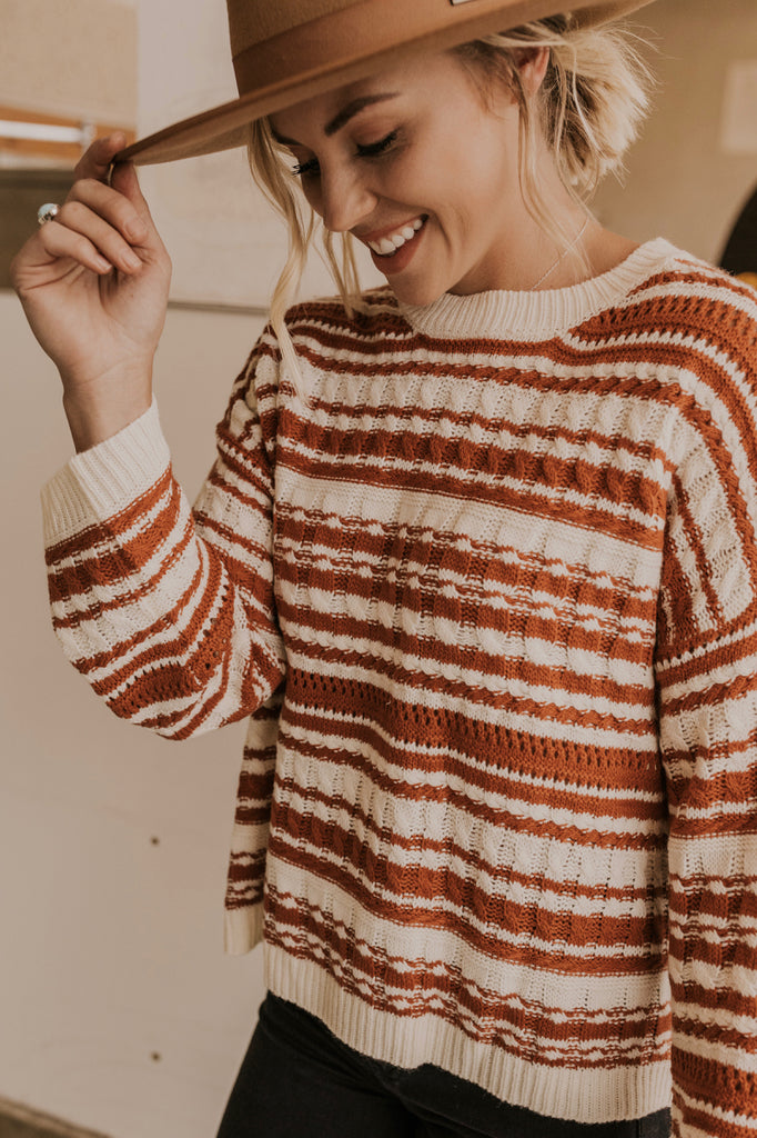 Chunky Knit Sweater in Cream | ROOLEE