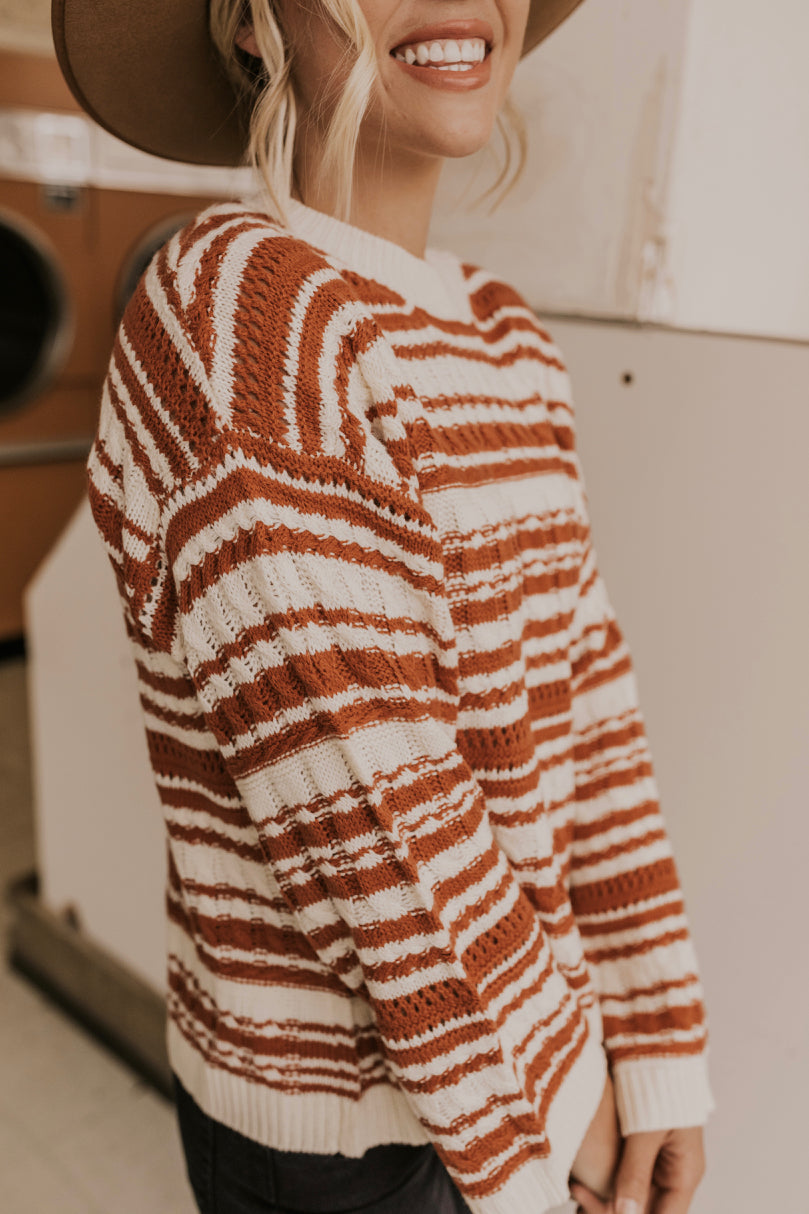 Womens Fall Stripe Sweaters | ROOLEE