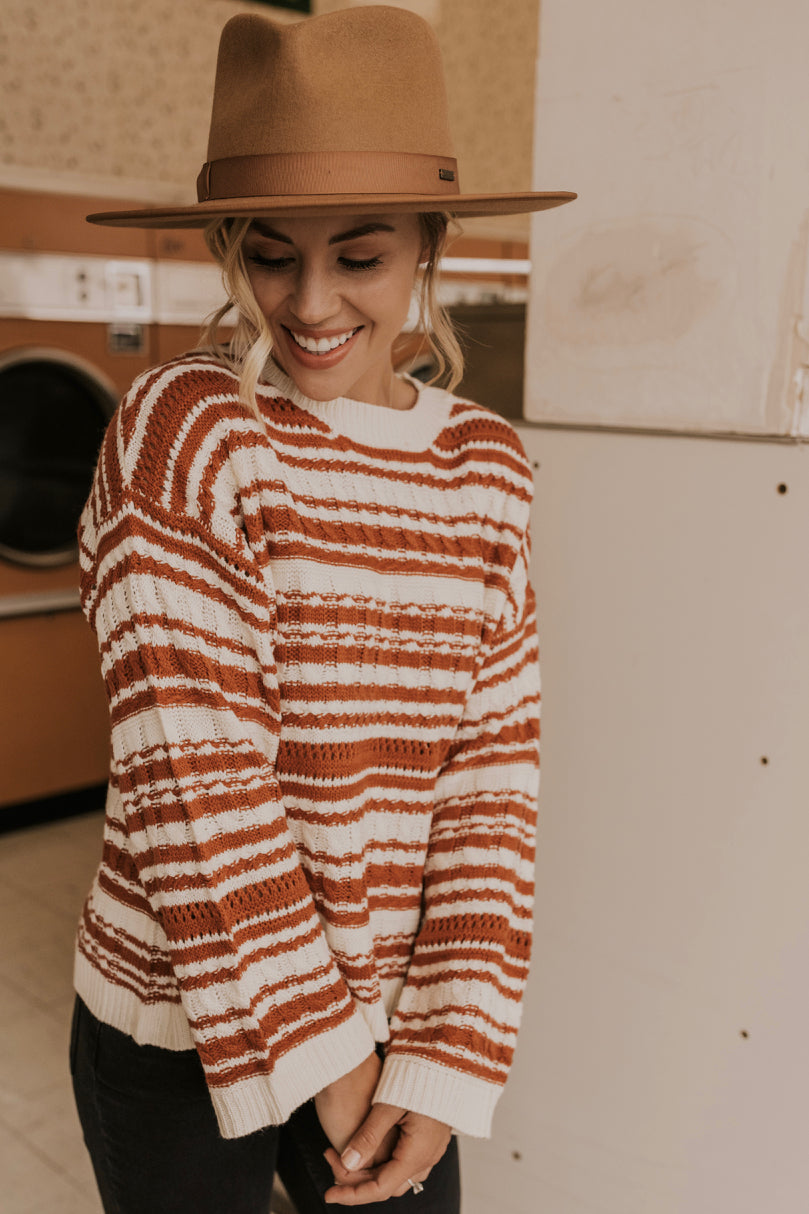 Stripe Knit Winter Sweater | ROOLEE